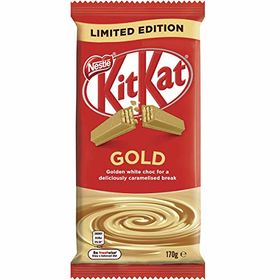Kit Kat Nestle Gold Golden White Choc with Caramalised Bar, 170 g