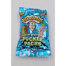 Warheads Sour Dippin Pucker Packs, 10 Packets 84g