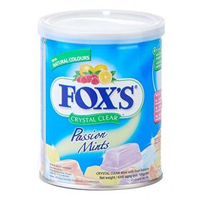 fox's Extracts Crystal Clear Passion Mints, 180g