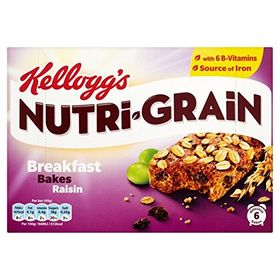 Kellogg's Nutri Grain Raisin 6 Cereal Bars 270g