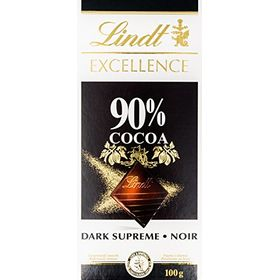 Lindt Excellence 90% Cocoa Mild Chocolate Bar 100 Grams – Imported; Premium Quality.