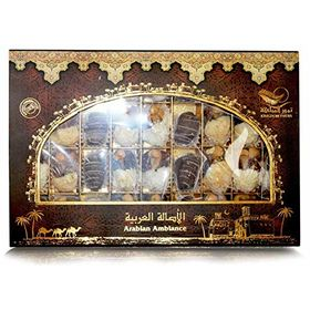 Kingdom Dates Arabian Ambiance Dates Filled with (Almond, Pistachio & Cashew) Box, 500g