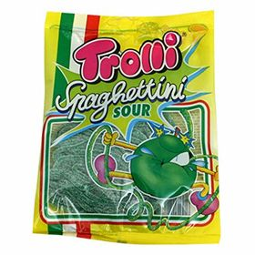 Trolli Spaghettini Sour Green Apple Gummy Candy Packet, 100g