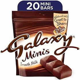 Galaxy Minis Smooth Milk 20 Bars Value Pack, 250g