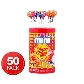 Chupa Chups Mini Assorted Mini Lollipops 50 Unit 300 Grams