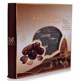 Kingdom Dates Royal Dates with Almond & Orange Peel Box, 400g