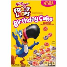 Kellogg's Froot Loops Strawberry Birthday Cake Cereal. 286g