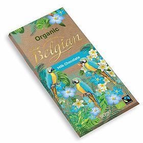 Belgian Organic Milk Chocolate Bar, 90g