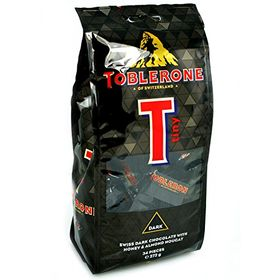 Toblerone Tiny Dark Swiss Dark Chocolate with Honey Almond Nougat 34 Pcs, 272g