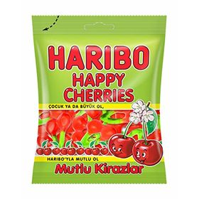 Haribo Happy Cherries Gummy 160g (Halal)