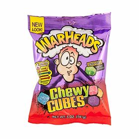 Warheads Chewy Cubes Mildly Sour Wildly Sweet Bag, 5 oz (141g)