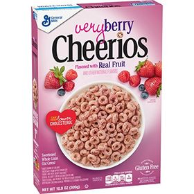 General Mills Very Berry Cheerios Flavoured with Real Fruit, Cereal 309g