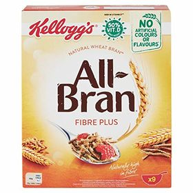 Kellogg's All-Bran Fibre Plus Wheat Bran Cereal, 375g