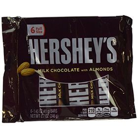 Hershey's Milk Chocolate Bars with Almonds (6 Pack Display, 246g)