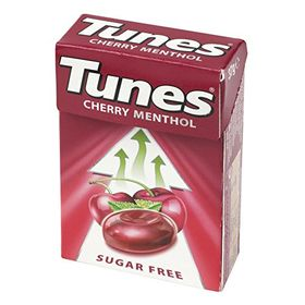 Tunes Cherry Menthol Sugar Free Drop Box, 37g