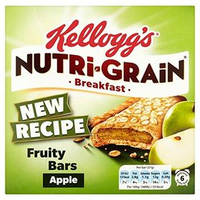 Kelloggs Nutri Grain Apple 6 Fruity Bars, 222g