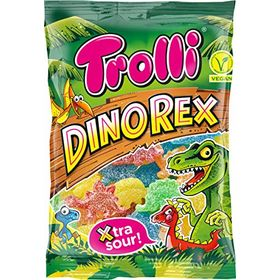 Trolli Dinorex Extra Sour Gummy Candy Packet, 100g