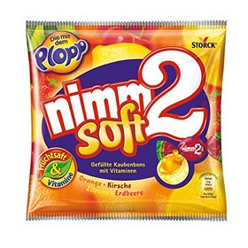 Storck Nimm2 Soft, Orange, Cherry, Lemon, Strawberry, 116g