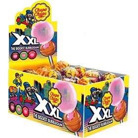 Chupa Chups XXL Biggest Bubblegum Tutti Frutti Flavour Lollipops in Cola, Apple & Strawberry Flavour ( 25 X 29g ), 725g