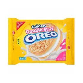 Nabisco Oreo Golden Double Stuf Sandwich Cookies, 432g