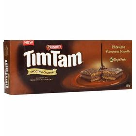 Arnott's Tim Tam Clocolate Flavoured Biscuits 10 Single Packet Box 135g