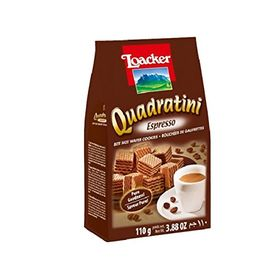 Loacker Quadratini Espresso Wafer, 110g