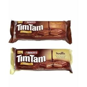 Arnott's Tim Tam Combo of Chocolate Sandwich Biscuit & Vanilla Sandwich Biscuit 94.5g
