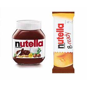 Ferrero Nutella Chocolate Hazelnut Spread and Nutella B -Ready -Combo Pack (750 g and 22 g)