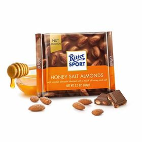 Ritter Sport Milk Chocolate with Honey Salt Almonds,  100 g