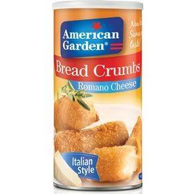 American Garden Bread Crumbs Romano Cheese Italian Style 425g