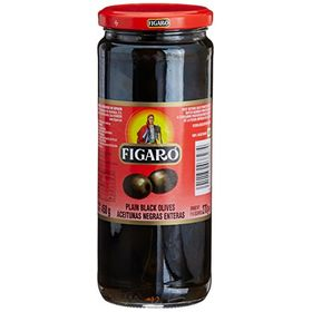 Figaro Plain Black Olives, 450g