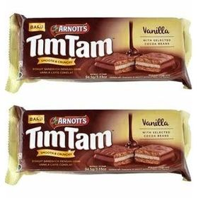 Arnott's Tim Tam Vanilla, 94.5g (Pack of 2)