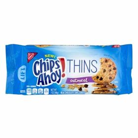 Nabisco Chips Ahoy Thins Oatmeal Real Chocolate Chip Cookies, 198g