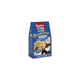 Loacker Quadratini Coconut Wafers, 125g