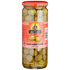 Figaro Plaingreen Olives, 450g