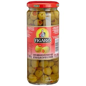 Figaro Stuffedgreen Olives with Pimentoes, 450g