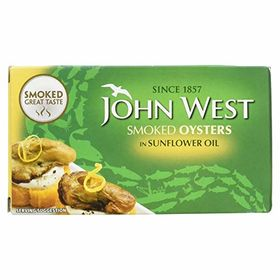 John West Smoked Oyster In Sunflower Oil, 65g
