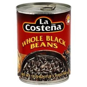 La Costena Whole Black Beans Tin, 560g