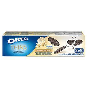 Oreo Thins Vanilla Delight Sandwich Cookies Box, 95g