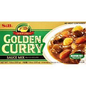 S&B Golden Curry Sauce Mix (Medium Hot), 220g