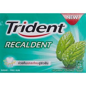 Trident Recaldent Sugar Free Spearmint Gum, 12.6g