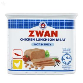Zwan Chicken Luncheon Meat Hot & Spicy, 340g