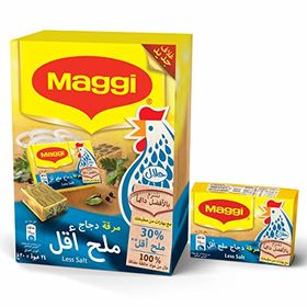 Maggi Chicken Stock Cube Less Salt, 24x20 (480g)
