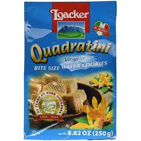 Loacker Quadratini Vanilla Wafer Cookies, 250g