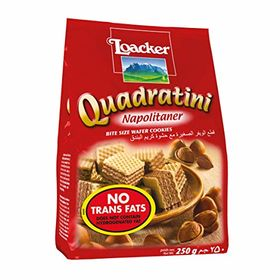 Loacker Quadratini Napolitaner Wafer, 250g