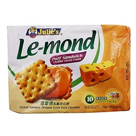 Julie's Le-mond Cheddar Cheese Cream Puff Sandwich 10 Convi-Packs!
