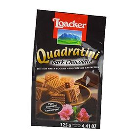 Loacker Quadratini Dark Chocolate Wafer Cookies, 125g