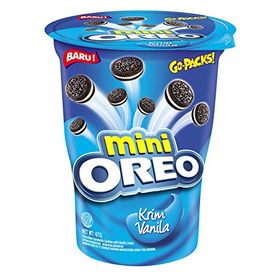 Oreo Mini Cream-Filled Vanilla Sandwich Biscuits (67g) - Pack of 2