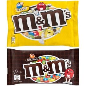 M&M'S Chocolate Candy Combo - Chocolate + Peanut Sugar Shell - 2 X 45Gms