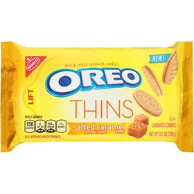 Nabisco Oreo Thins Salted Caramel Creme Sandwich Cookies, 287g